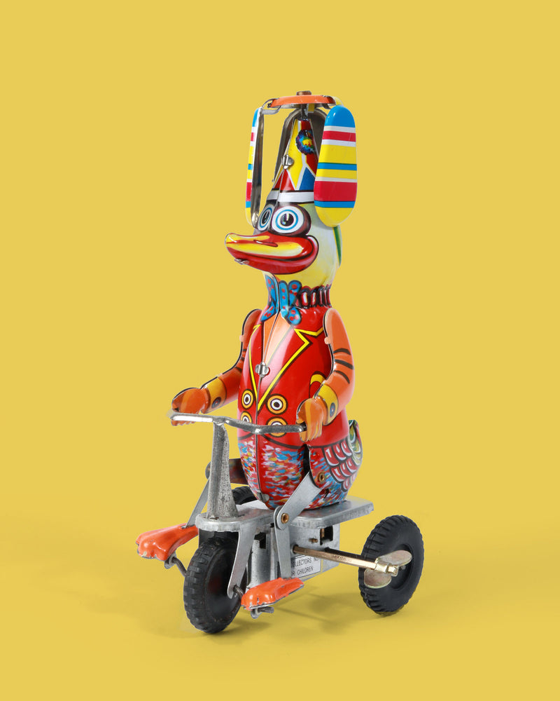 Duck on a Trike Tin Toy