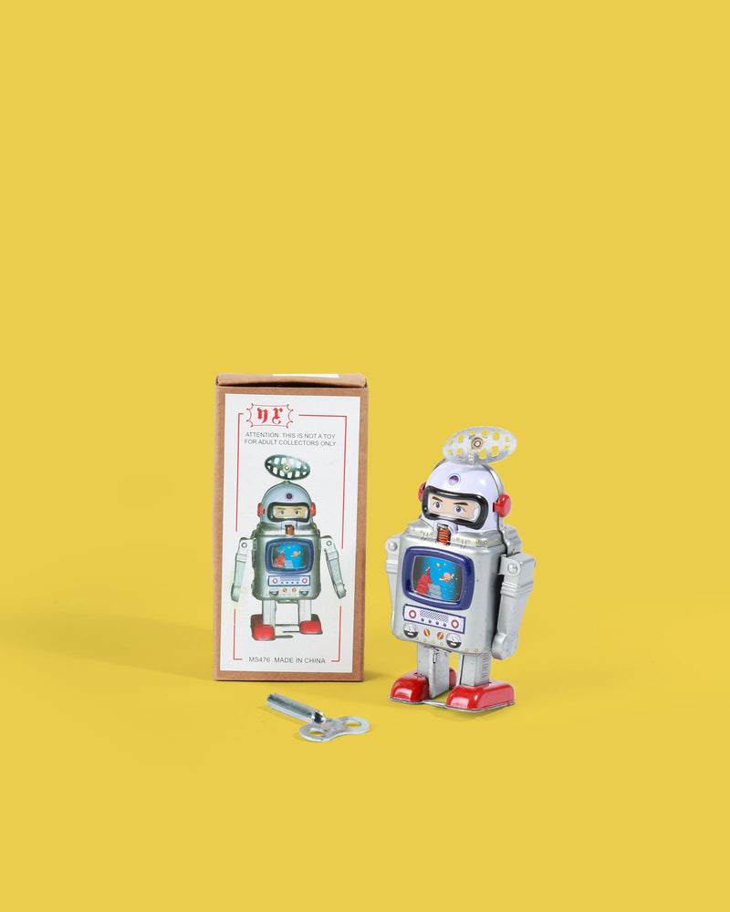 Load image into Gallery viewer, Galaxy Astronaut Robot Tin Toy