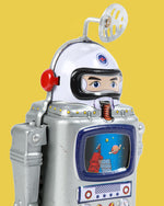 Galaxy Astronaut Robot Tin Toy