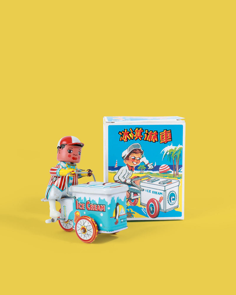 Ice Cream Vendor Tin Toy