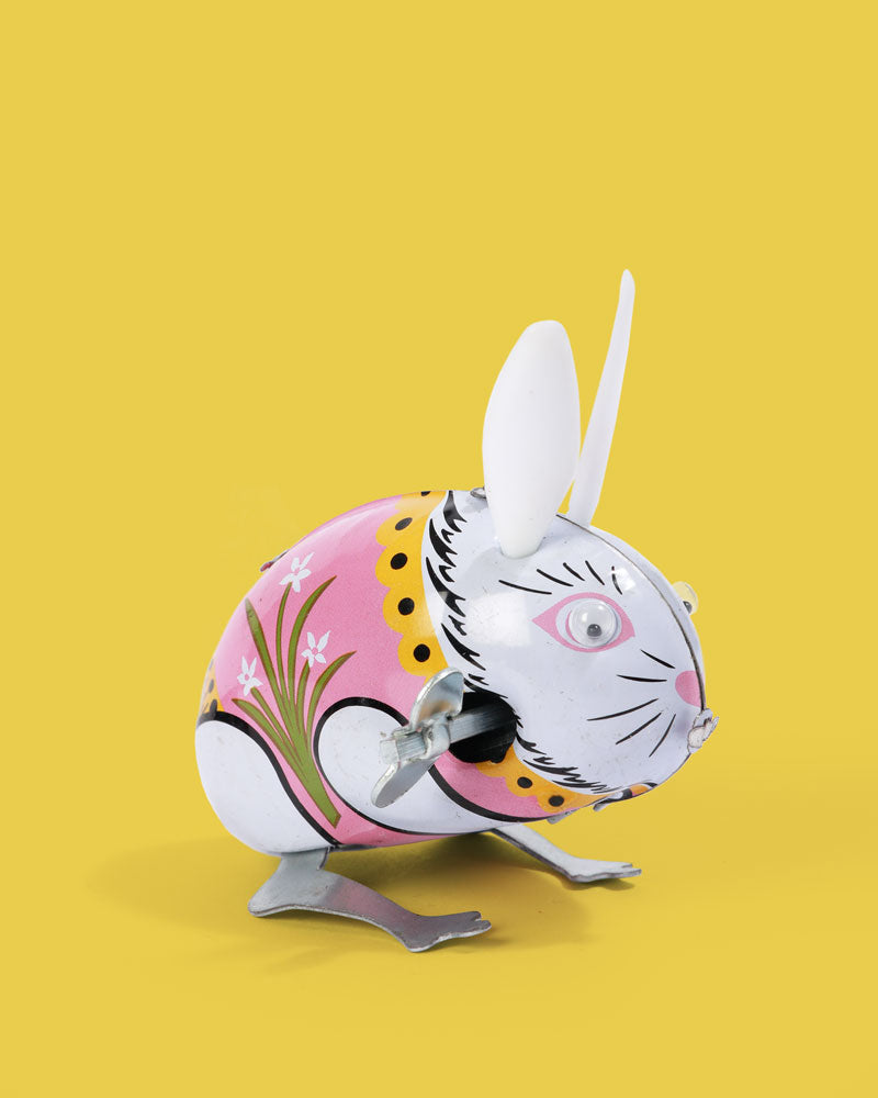 Jumping Rabbit Tin Toy
