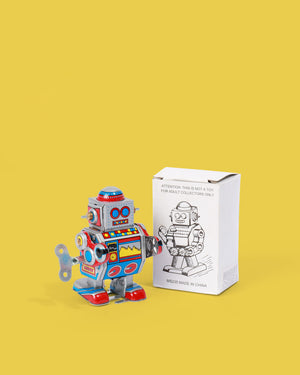 Little Colourful Robot Tin Toy