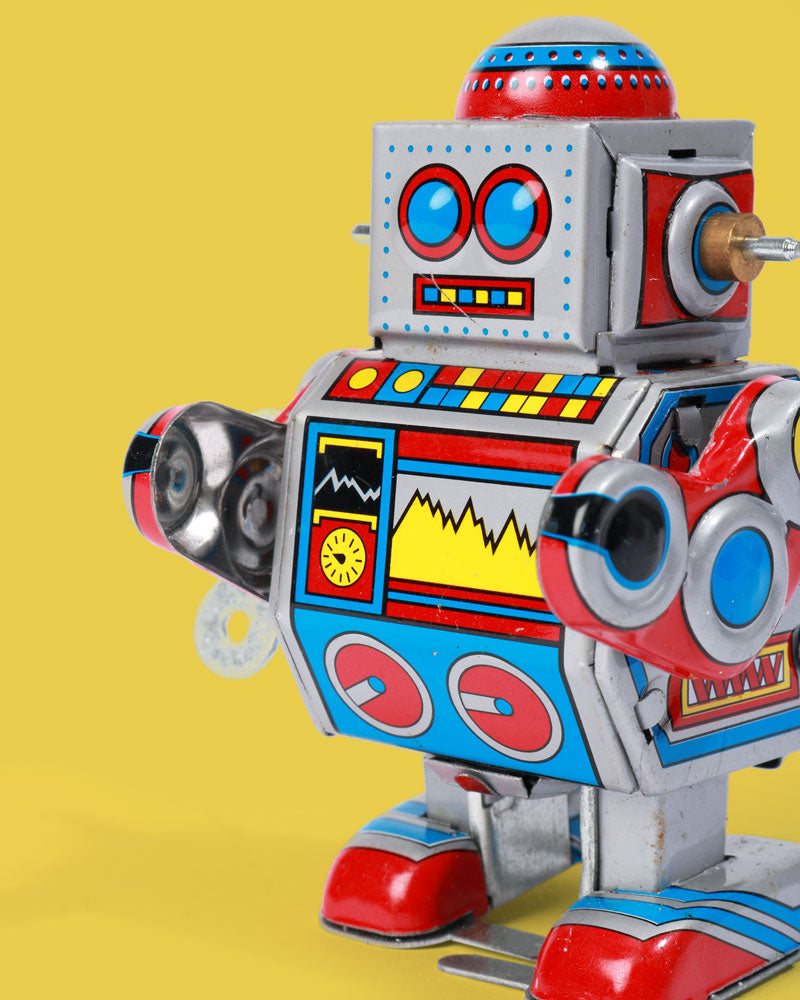 Load image into Gallery viewer, Little Colourful Robot Tin Toy
