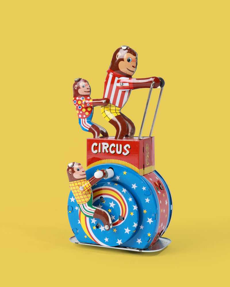 Monkey Circus Tin Toy