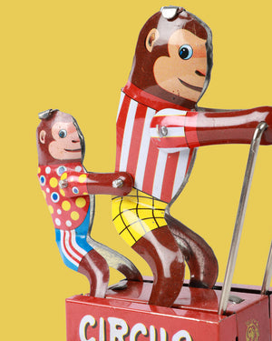 Load image into Gallery viewer, Monkey Circus Tin Toy