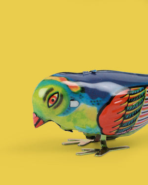 Load image into Gallery viewer, Blue Bird Tin Toy