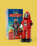 Red Robby Robot Tin Toy
