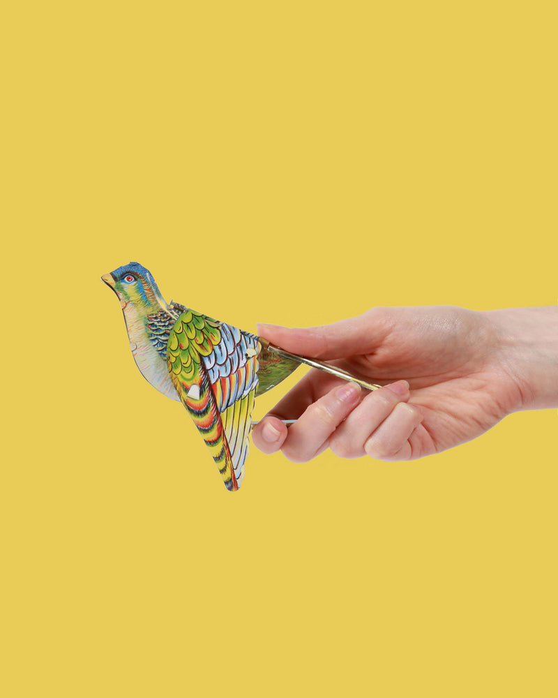 Whistling Sparrow Tin Toy