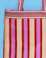 Stripe Nylon Market Bag, Long Handle