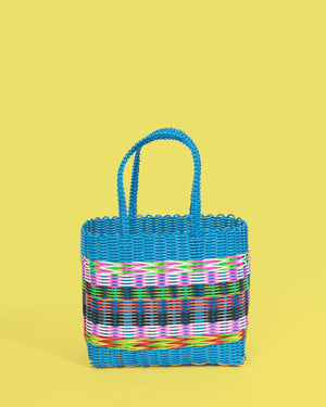 Fair Trade Plastic Basket, Blue