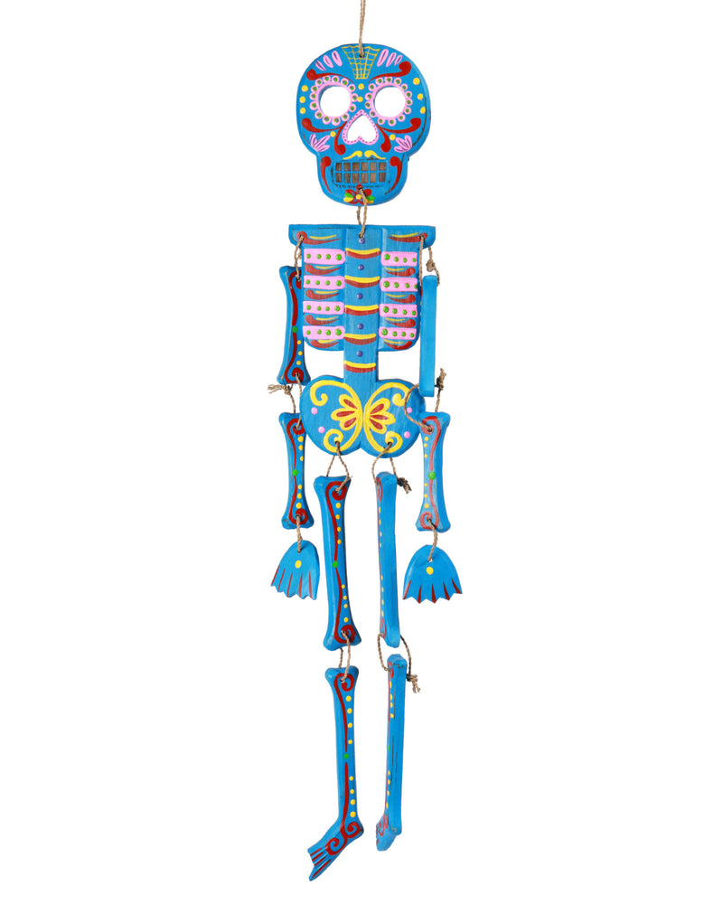 Wooden Day of the Dead Skeleton