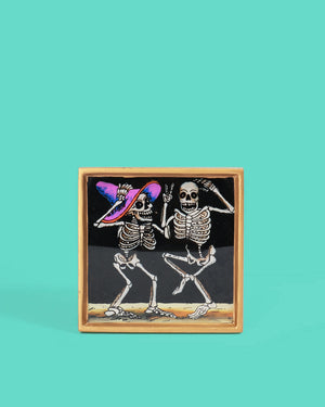 Dancing Friends Folk Art Frame