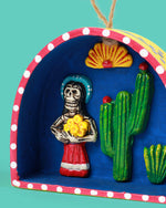 Lady with Flowers Retablo