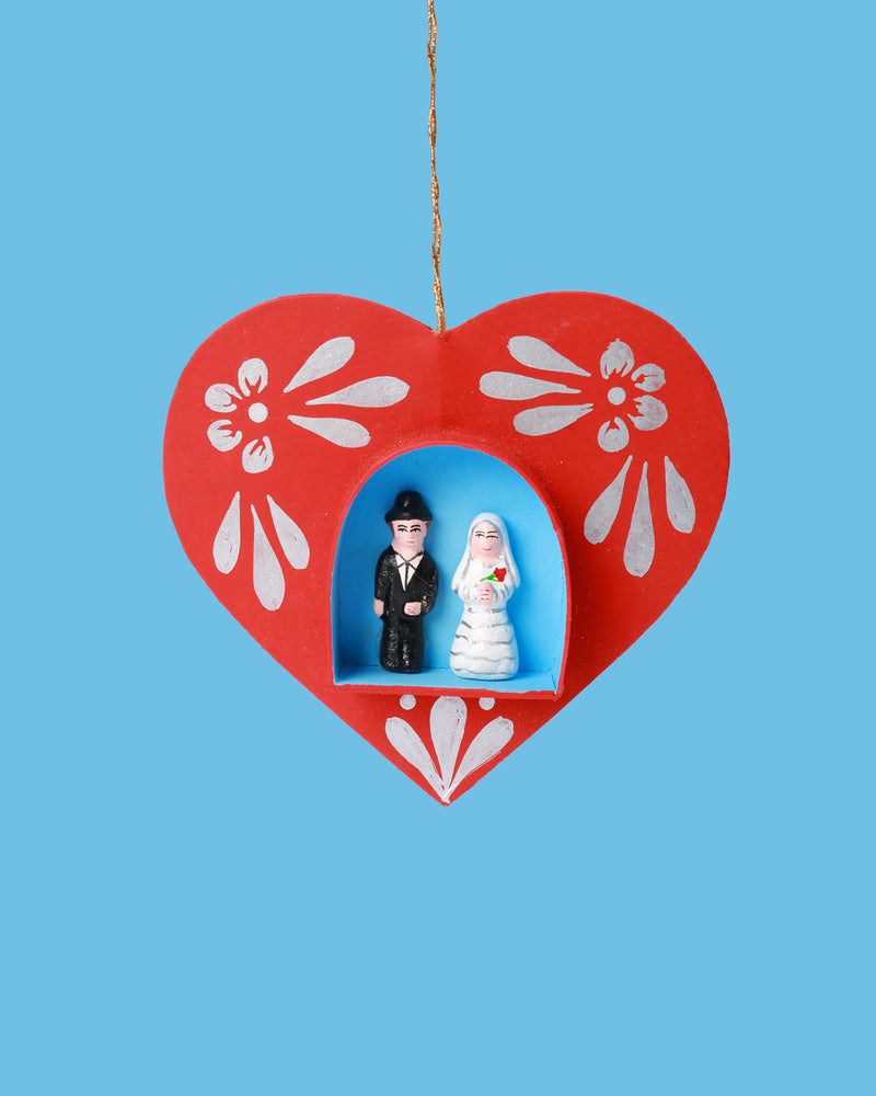 Hanging Heart Decoration, Bride & Groom