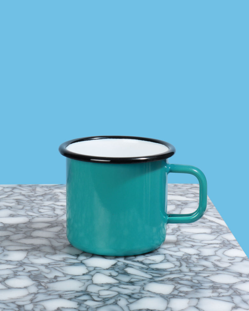 Load image into Gallery viewer, Enamel Mug, Teal
