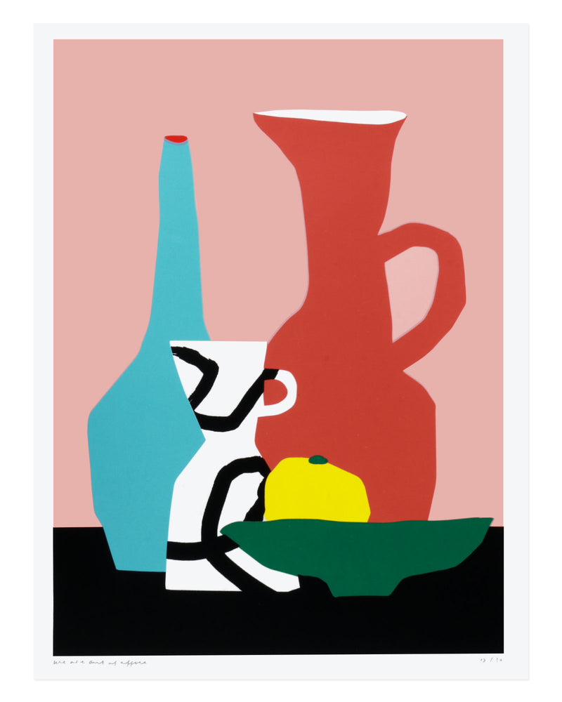 Load image into Gallery viewer, Still Life With a Couple of Vases and a Piece of Fruit