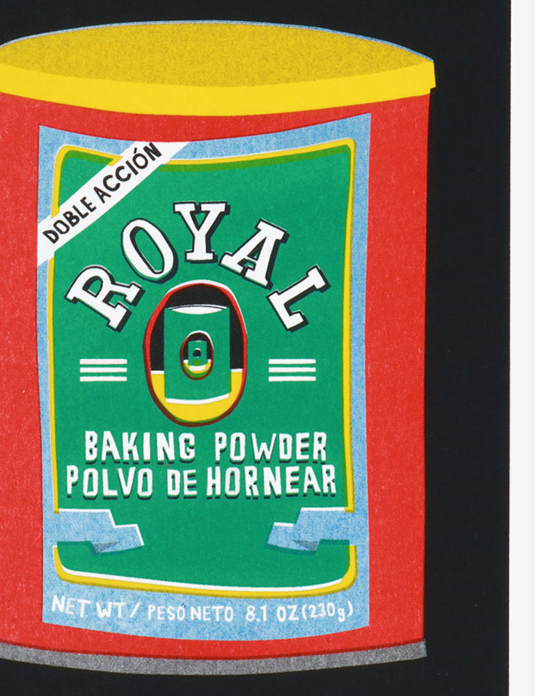 A Risograph Print of Royal Baking Powder