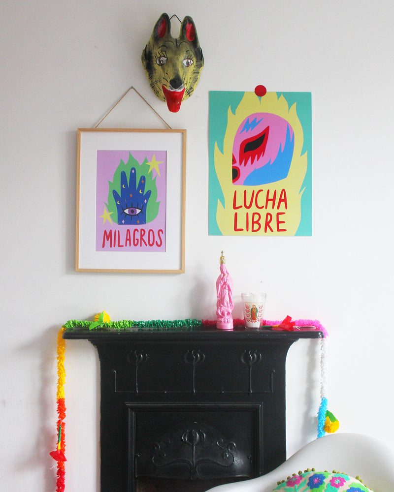 Load image into Gallery viewer, Wolfnoodle X Okla Milagros Print