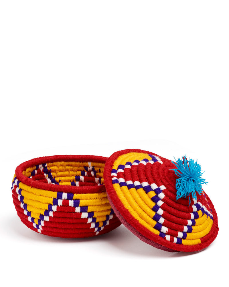 Valede Basket Red & Yellow