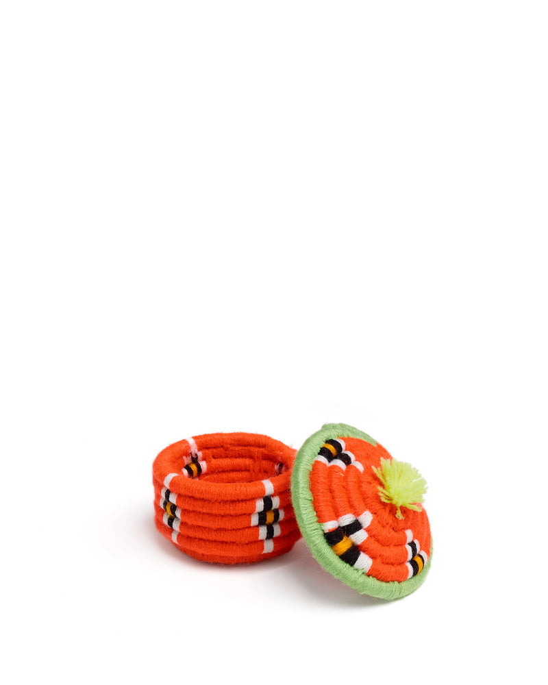 Load image into Gallery viewer, Nini Round Basket Orange & Lime