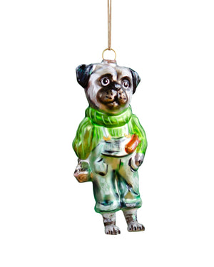 Load image into Gallery viewer, Nathalie Lété Dog Ornament, Pug