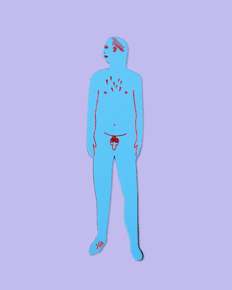 Load image into Gallery viewer, Nudist Bookmark Man, Blue