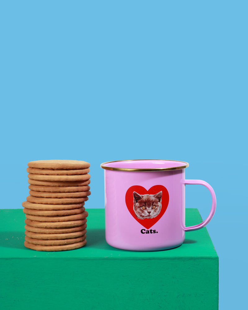 Cat Enamel Mug