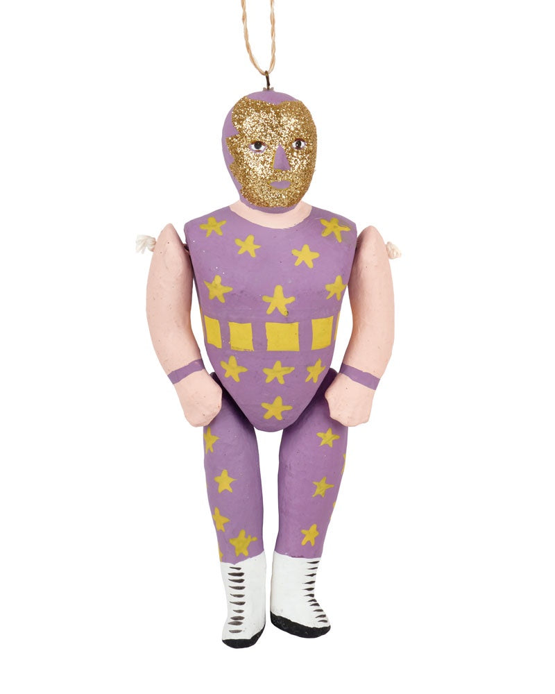 Cody Foster Luche Libre Ornament, Purple