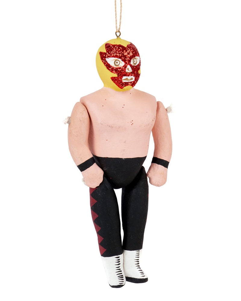 Cody Foster Luche Libre Ornament, Black & Yellow