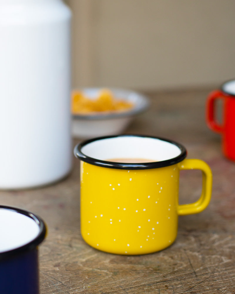 Yellow Enamel Mug