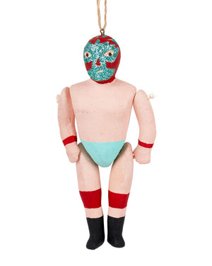 Cody Foster Luche Libre Ornament, Turquoise
