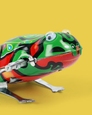Jumping Frog Tin Toy