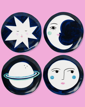 Lisa Junius Plates, Set of Four