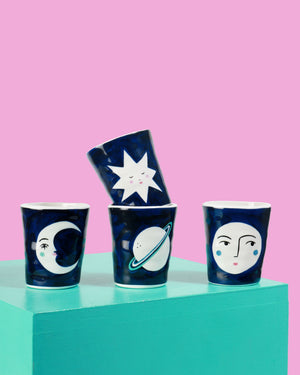 Lisa Junius Mugs, Set of Four