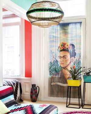 Load image into Gallery viewer, Frida Kahlo Bamboo Curtain