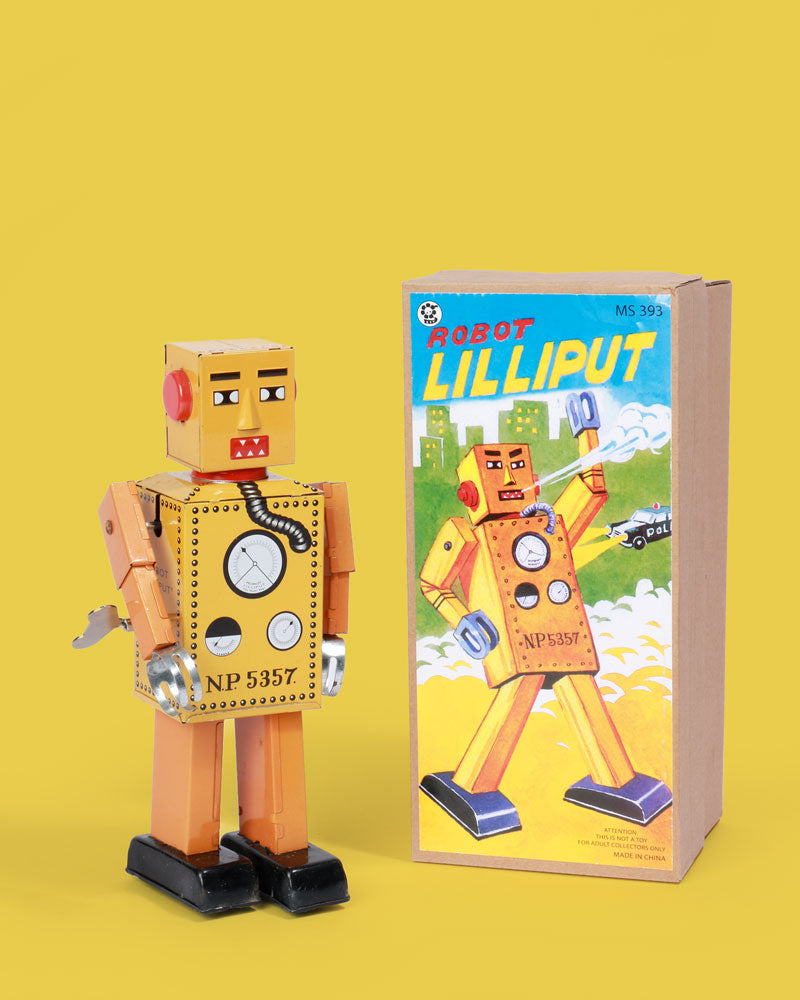 Lilliput Robot Tin Toy, Large