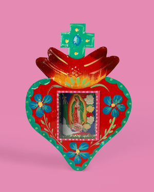 Guadalupe Corazon Wall Shrine
