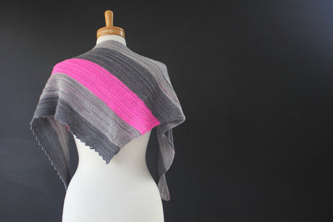 Pink Light Shawl