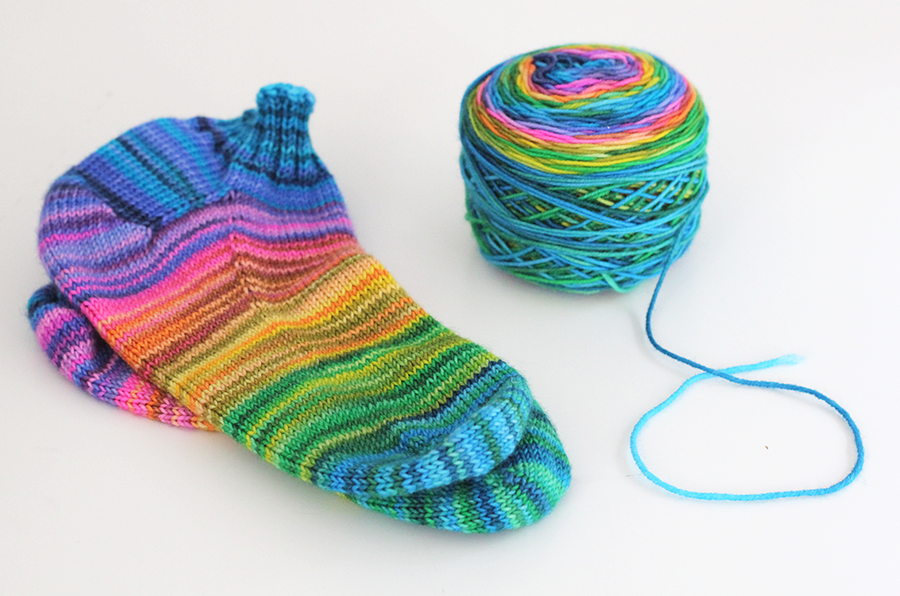 All Together Now Rainbow self striping socks CLASSIC