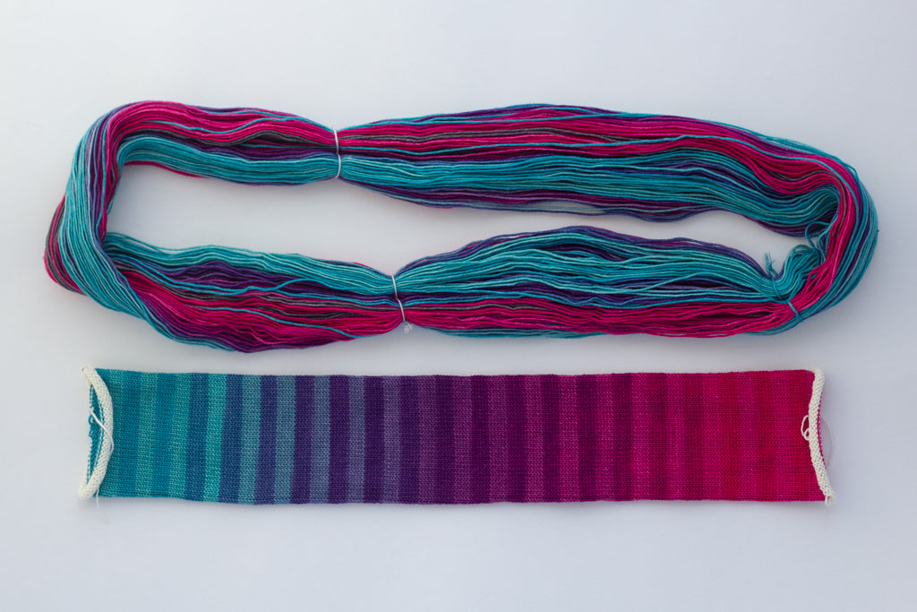 Colour Study yarn from gauge dye works