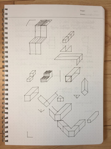 Geometry scarf sketches