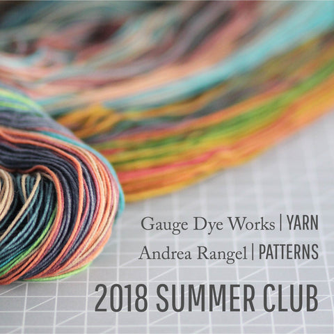 Yarn and pattern subscription club from Gauge Dye Works and Andrea Rangel