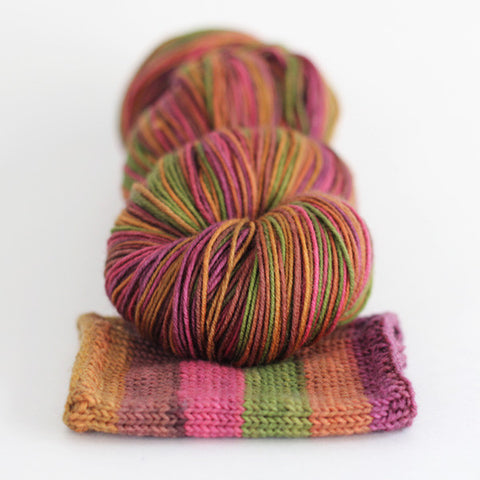 may flowers | caterpillargreen self-striping yarns