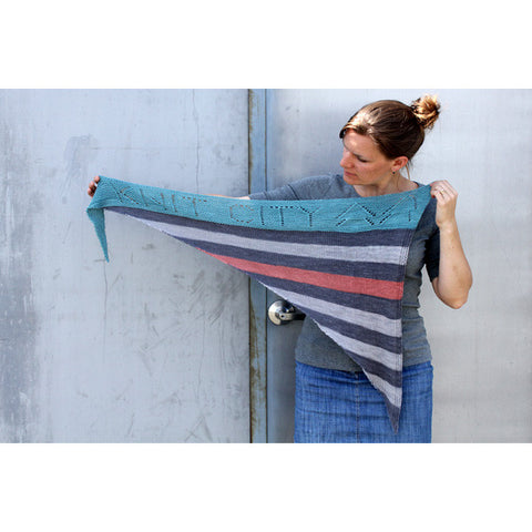 shorn this way | self-striping shawl yarn