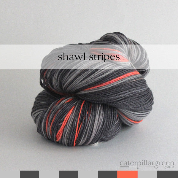 orange light | self-striping shawl yarn