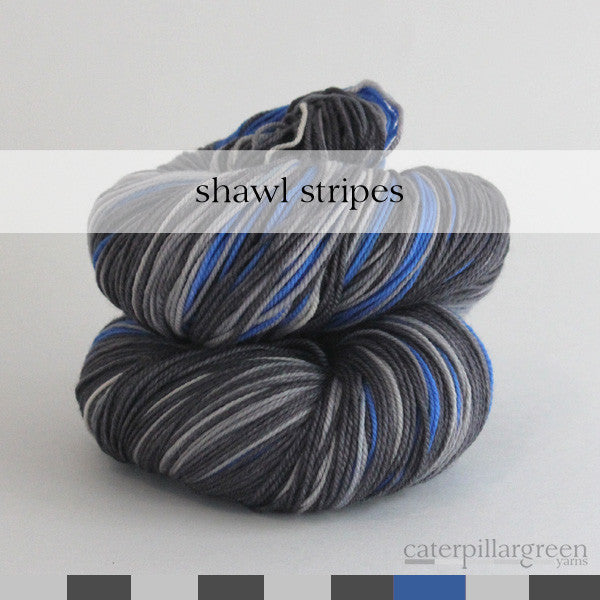 sapphire light | self-striping shawl yarn