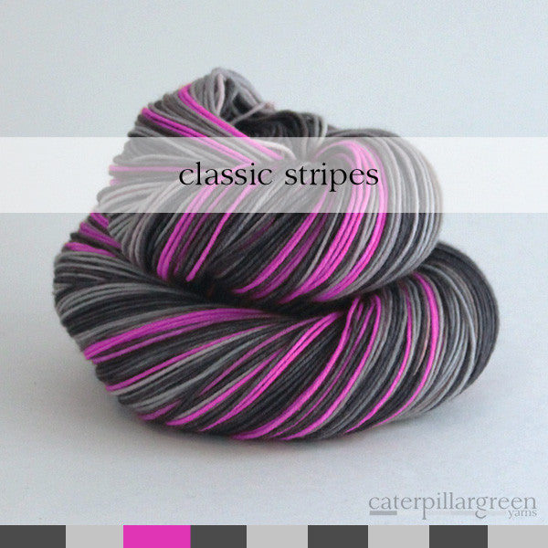 bright pink | self-striping classic yarn