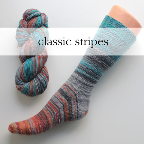 weekend | self-striping classic yarn