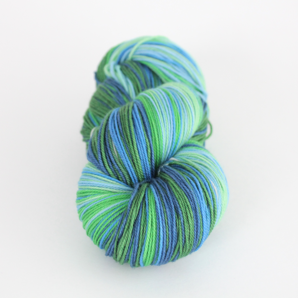 Sweet Baby James self-striping SHAWL yarn | Gauge
