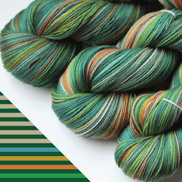 Cathedral Grove Gauge self striping shawl yarn green